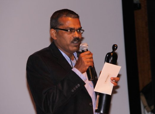 Mohan Raghavan at NYIFF in New york to receive the best screenplay award for his debut film T.D.Dasan STD VI B